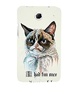 EPICCASE Grumpy cat Mobile Back Case Cover For Lenovo S880 (Designer Case)