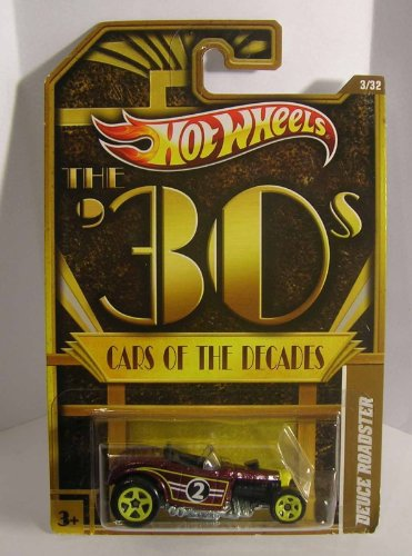 Hot Wheels The 30's Cars Of The Decades Deuce Roadster Brown #3/32 - 1
