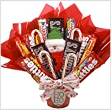 """Santa Says ..."" Holiday Candy Bouquet - Christmas Gift Basket"