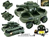 Remote Control (RC) Amphibious Tank BB shooting -- Green