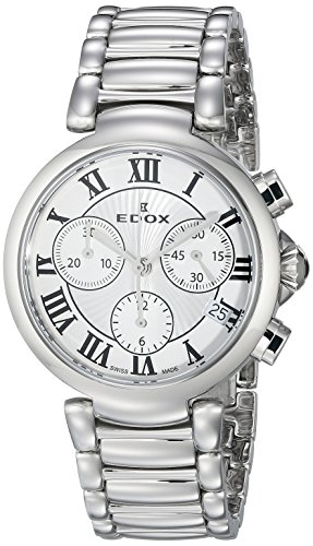 Edox-Womens-10220-3M-AR-LaPassion-Analog-Display-Swiss-Quartz-Silver-Watch
