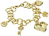 XOXO Women's XO7032 Gold Mirror Dial Gold-tone Charm Watch