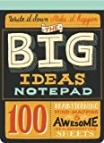 img - for The Big Ideas Notepad: 100 Brainstorming, Mind-Mapping & Awesome Idea-Generating Sheets (2013-07-23) book / textbook / text book