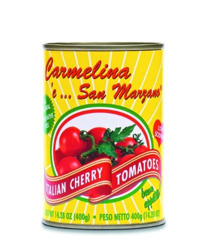 Carmelina 'e San Marzano Italian Cherry Tomatoes (Pomodorini) in Juice, 14.28-Ounce Cans (Pack of 24)