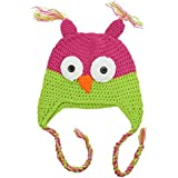 Hot Pink & Lime Baby & Toddler Owl Hat by juDanzy