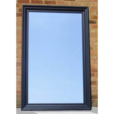 "Large Black Rhodes Mirror (3ft 9"" x 5ft 9"")"