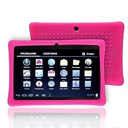 NSSTAR Soft Silicone Slim 7 Inch Tablet Protective Back Case Cover for Chromo,Dragon Touch A13 Q88,Y88,Afunta Q88,AGPtek,Alldaymall Q88,FastTouch,Zeepad 7.0,Fortress,Tagital,ZTO N1,ZTO N1 Plus,Alldaymall A88X 7'',NeuTab N7 Pro,Chromo Inc 7