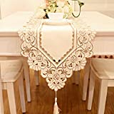 Delicate embroidery and cutwork make a beautiful way to dress up your home, use alone or with coordinating tablecloths and placemats for an elegant display, hand wash, easy machine wash, easy care.