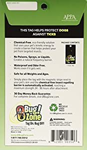 0Bug!Zone 1 Piece Tick Barrier Tag for Dogs