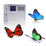 RIF6 CUBE - 2 Inch Pico DLP High-Res Mobile Projector- 120 Inch Display, 20,000 Hour LED Life, Mini-HDMI, 90 Minutes Battery Life, Pocket Size Home Cinema