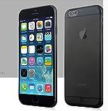 MYLB apple iphone 6 4.7 pulgadas cubierta de la caja protectora funda case cover de alta calidad del teléfono TPU suave parachoques (0,7 mm de grosor) (transparente Negro)