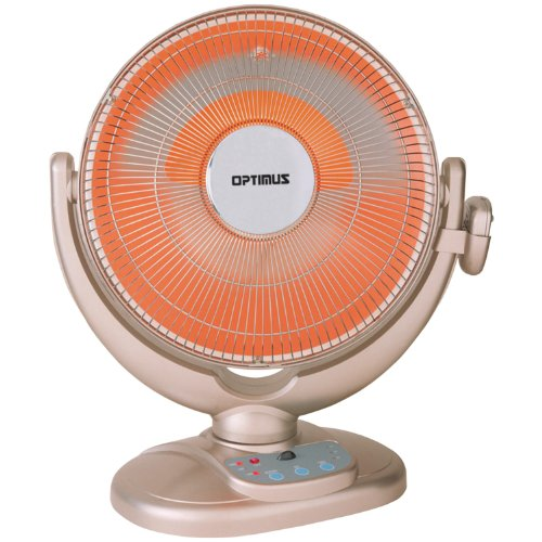 Optimus H-4438 14-Inch Energy-Saving Oscillating Dish Heater with Remote Control (Radiant Heaters Electric compare prices)
