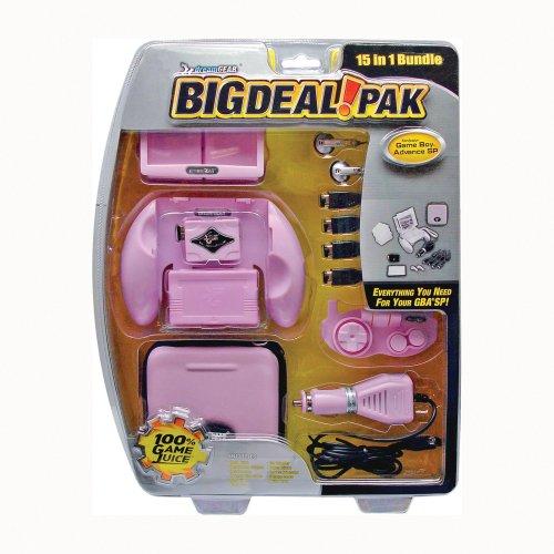 Game Boy Advance SP Big Deal Pack 15 In 1 Bundle - Pink