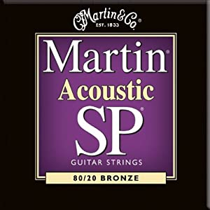 Martin MSP3050 SP 80/20 Bronze Acoustic Guitar Strings, Custom Light