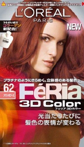 NIHON LOREAL Feria 3D Hair Color Platinum Nuance Technology #62 Framboise (Japan Import) (Feria Platinum Hair Color compare prices)