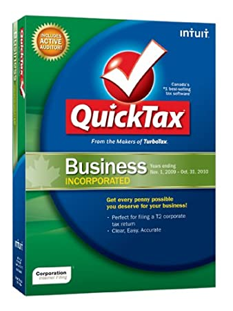 QuickTax Incorporated Business 2009 [Old Version]