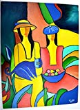 Modern Art - Two Girls - Original Hand Made Painting by Tushar (24x18)