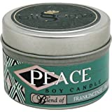Blissoma Peace Aromatherapy Artisan Soy Candle 4 Oz With Natural Essential Oils No Synthetic Scent