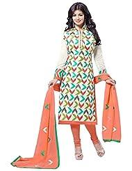 Manvaa Women's Silk Dress Material (RSFSMY9401_White_Free Size)