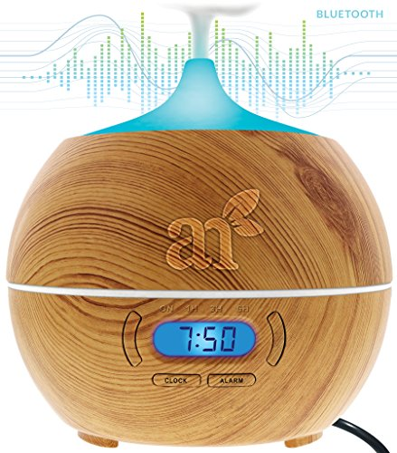 Art-Naturals-Essential-Oil-Diffuser-400ml-With-Bluetooth-Speaker-Clock-Alarm-Electric-Cool-Mist-Aromatherapy-Humidifier-for-Office-Home-Bedroom-Baby-Room-Study-Yoga-Spa-7-Color-LED-Lights