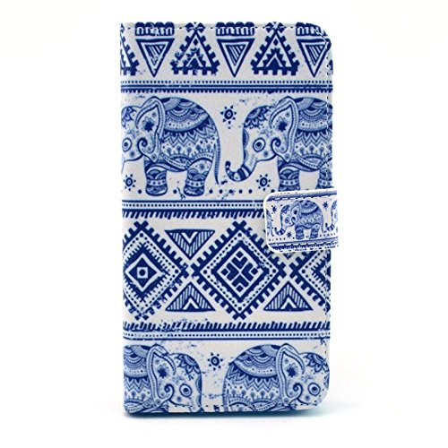 Lg G3 Case,[Xyx] Elephant Cloth Dyeing Pattern Pu Leather Wallet Flip Stand Smart Bracket Case Cover Credit Card Holder Case + Soft Tpu Cover Skin For Lg G3