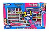 Girl Fashion Deluxe 2-in-1 Toy Jewelry Making & Hair Beader Set, Make Friendship Bracelets & Awesome Hair Wear
