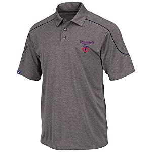 Minnesota Twins Embroidered The Run Down Polo Golf Shirt by Majestic