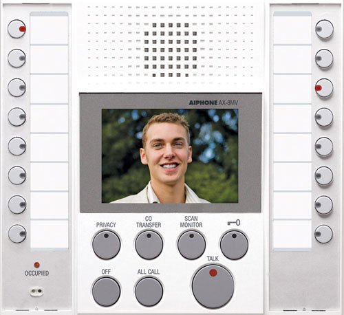 Aiphone Ax-8Mv-W Audio/Video White Master Station For Ax Series Integrated Audio & Video Security System front-816171