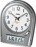 CASIO (カシオ) 目覚し時計 WAVE CEPTOR ウェーブセプター アナログ 電波時計 (福島・九州両局対応) カレンダー表示 温度表示 TTM-150J8JF