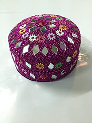 Jewelry Boxes Home Decor Indian Beaded Fashionable VARIOUS Color Jewellery Boxes Gift Set of 3