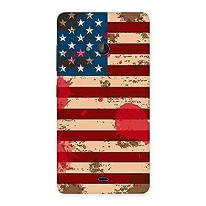 Ajay Enterprises Viber Cool Grunge USA Flag Back Case Cover for Lumia 540