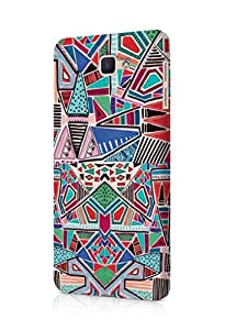 Cover Affair Colorful Geometric Printed Back Cover Case for Samsung Galaxy J7 Prime