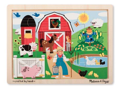 Melissa & Doug Farm Jigsaw Puzzle (12-Piece)