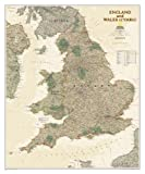 England and Wales Executive [Tubed] (National Geographic Reference Map)