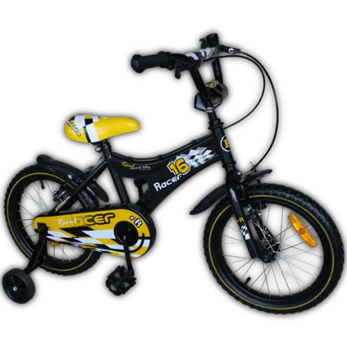 kinderfahrrad mit st tzr dern 16 zoll kinderfahrrad bmx. Black Bedroom Furniture Sets. Home Design Ideas