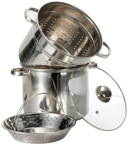 Prime Pacific 4 Piece Pasta Cooker and Steamer Set