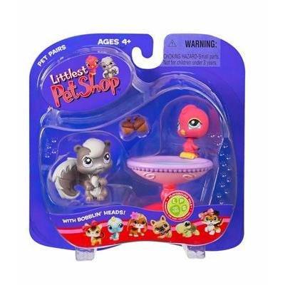 Buy Low Price Hasbro Littlest Pet Shop Pet Pairs Figures Bird & Squirrel (B000IHE952)