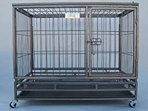 Go Pet Club Heavy Duty Metal Cage, 43-Inch by 30 by 38-Inch