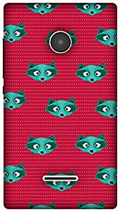 The Racoon Grip printed designer hard back mobile phone case cover for Microsoft Lumia 532. (Blue Racoo)