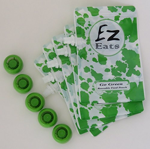 Ez Eats Reusable Squeeze Food Pouch 5 Pack - 1