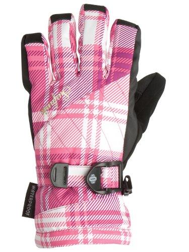Surfanic Girls Cushy Snowboarding Gloves Check Purple