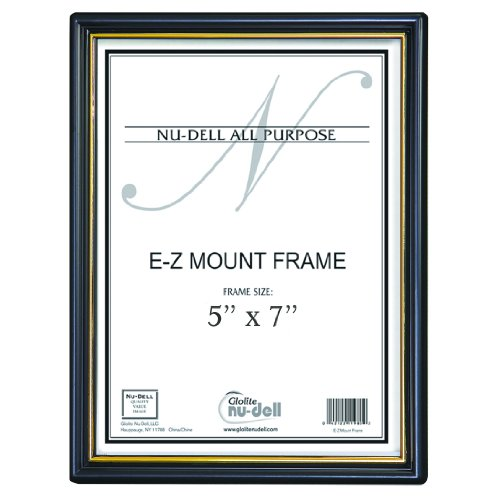 "5"" X 7"" Ez Mount Document Frame Plastic Face, Black front-1053105"