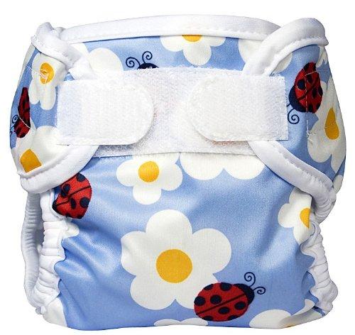 Bummis Super Whisper Wrap Diaper Cover, Ladybug, Medium