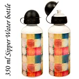 Sipper Water Bottle 350ml Chex Print