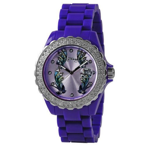 Ed Hardy Women's RX-PU Roxxy Purple Watch