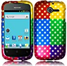 Colorful Polka Hard Case Cover Faceplate Protector for Huawei Ascend Y H866 / M866 / H866C Straight Talk with Free Gift Reliable Accessory Pen