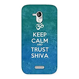 Gorgeous Trust Shiva Back Case Cover for Micromax Canvas HD A116
