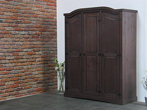 3trg-Kiefer-Kleiderschrank-New-Mexiko-Mexico-Schlafzimmer-Schrank-kolonial