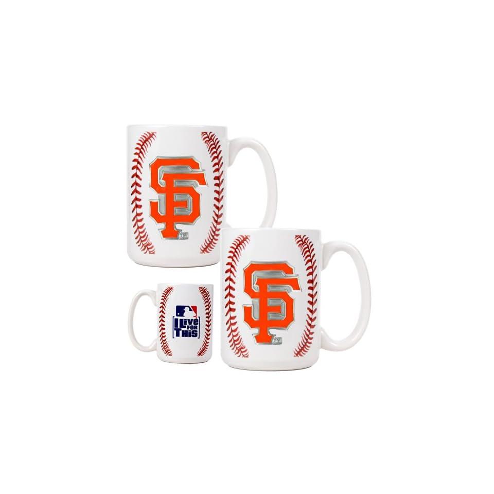 San Francisco Giants Game Ball Ceramic Coffee Mug Set