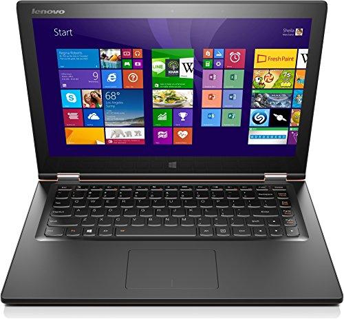 Lenovo Yoga 2 13 33,8 cm (13,3 Zoll FHD IPS) Convertible Ultrabook (Intel Core i3-4030U, 1,9GHz, 4GB RAM, 128GB SSD, Intel HD Graphics 4400, Touchscreen, Win8.1) clementine orange